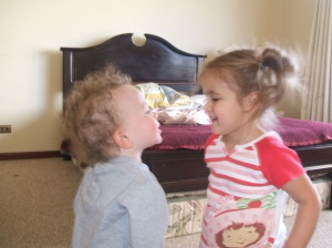 Tyler and Rachel conversing