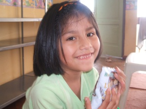 Seven year old Estefani who lives in the House of Dreams