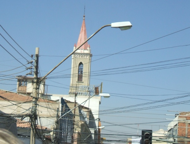Lamp posts in Cochabamba