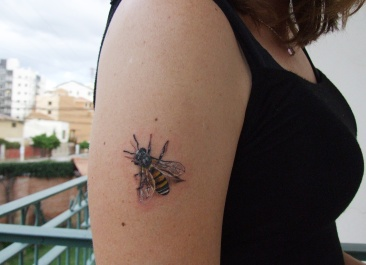On my last day in Bolivia I got a bee tattoo